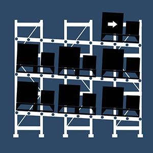 Atlantic Rack's Push back pallet rack system