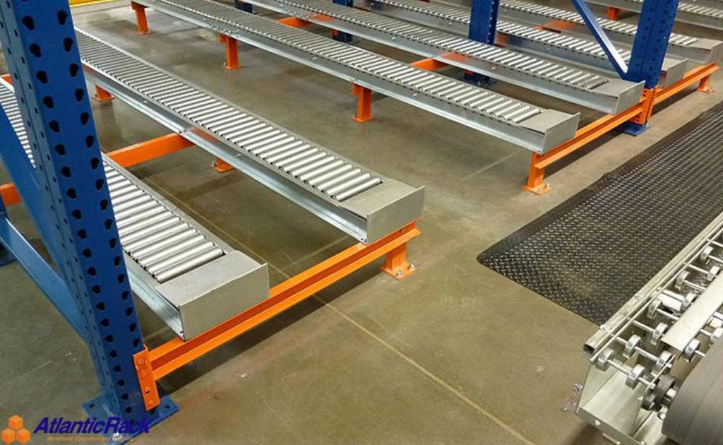 Pallet flow rack system atlantic rack warehouse for Warehouse racking design software