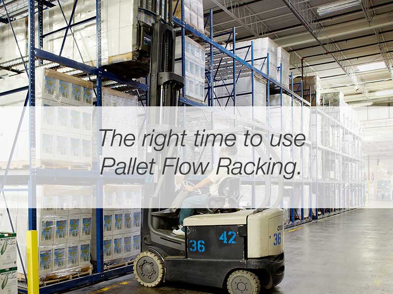 The Right Time to use Pallet Flow Systems